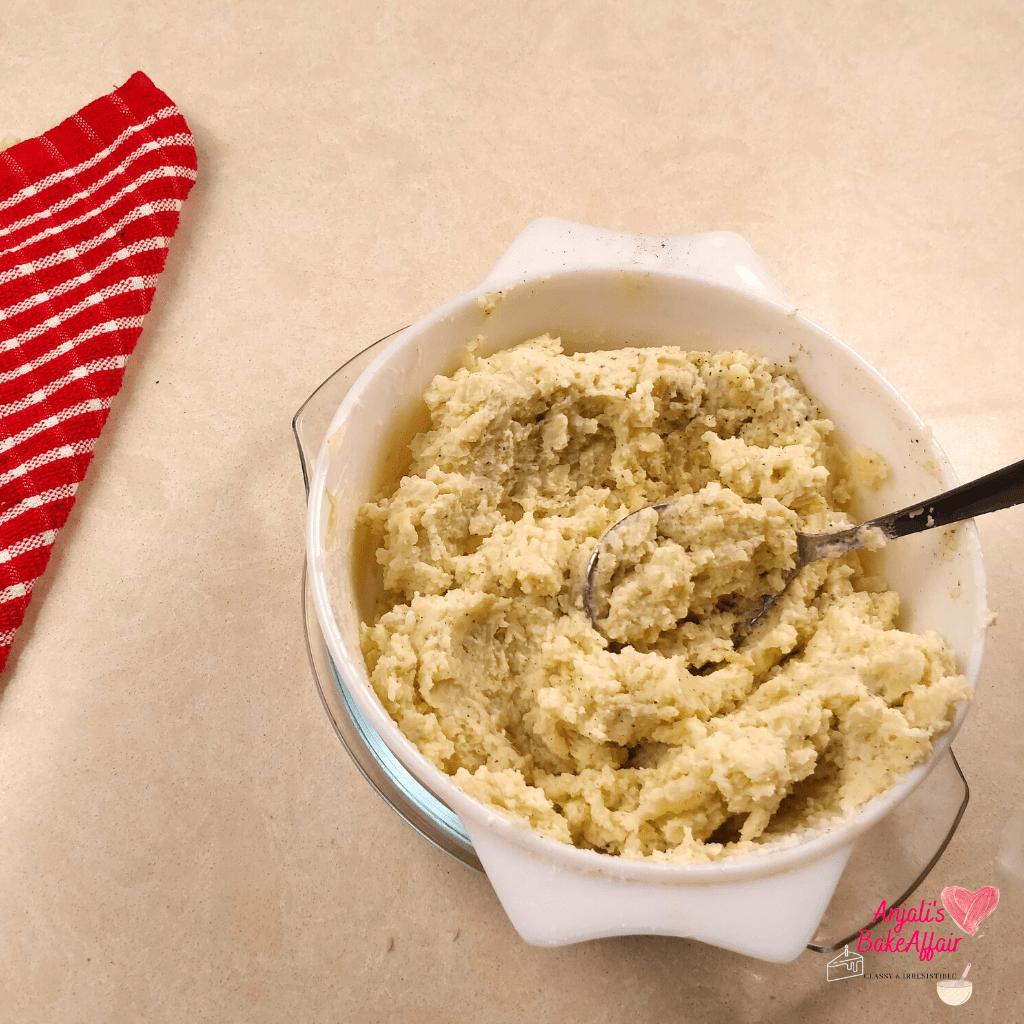 veg shepherd's pie mashed potatoes
