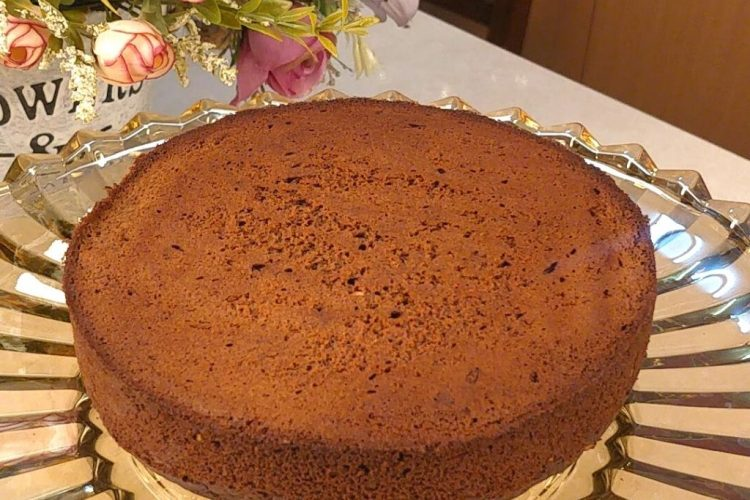 eggless chocolate & peanut butter cake