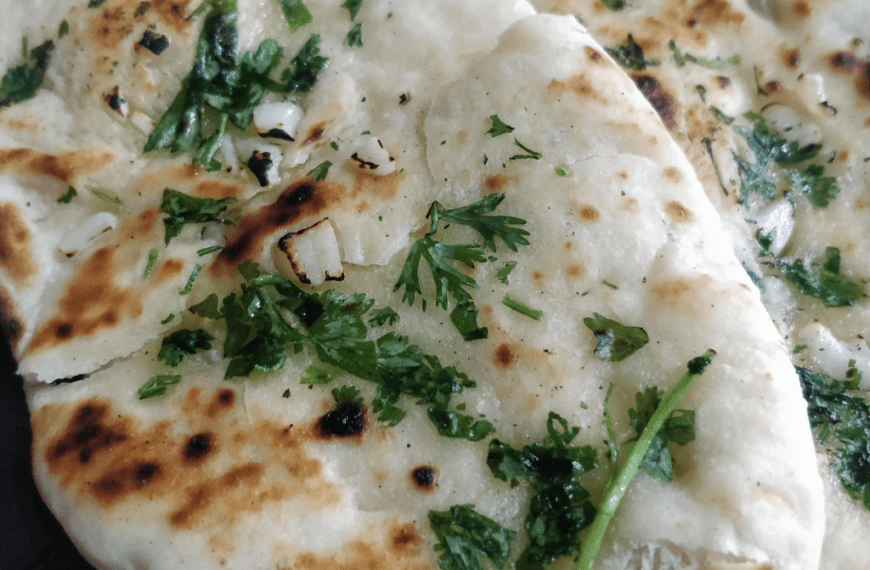No Yeast Garlic Naan