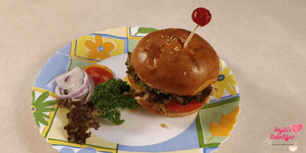 street style veg burger indian burger indian street burger burger