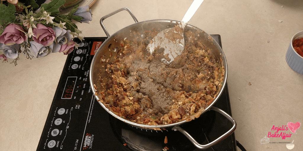frying pan veg hot dogs