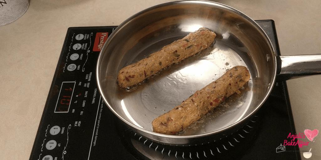 veg sausage veg hot dogs
