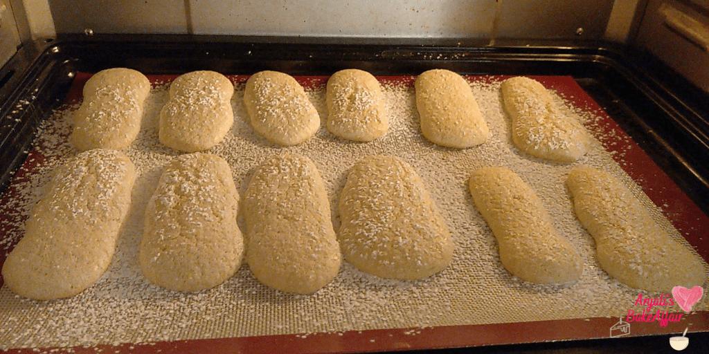 ladyfinger cookies  tiramisu cookies cookies in oven